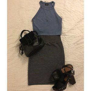 American Apparel Striped Pencil Skirt